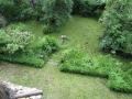 Coup d'oeil sur le jardin depuis l'étage