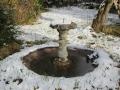 La fontaine en hiver